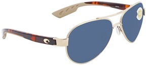 Costa del Mar Loreto Grey 580P Aviator Sunglasses LR 64 OGP