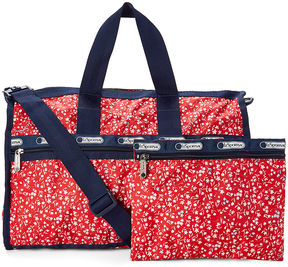 Le Sport Sac Red Sailing Floral Medium Weekender & Pouch