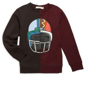 Stella McCartney Toddler's, Little Boy's & Boy's Two-Tone Helmet Print Cotton Sweatshirt