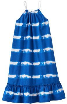 Chaps Toddler Girl Striped Ruffle Dress