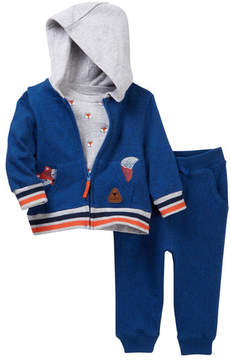 Little Me Fox 3-Piece Jogger Set (Baby Boys)
