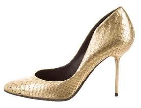 Pedro Garcia Embossed Metallic Pumps