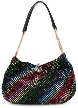 Sonia Rykiel sequined striped shoulder bag