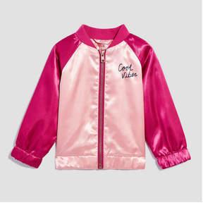 Joe Fresh Baby Girls' Satin Bomber Jacket