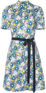 Carolina Herrera floral short sleeve shirtdress
