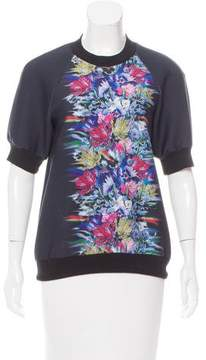 Cynthia Rowley Structured Graphic Print Top