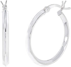 Bliss Sterling Silver Polished Knife Edge Hoop Earrings