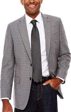 Claiborne Linen-Look Check Sport Coat - Classic Fit