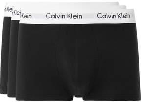 Calvin Klein Underwear Three-Pack Low-Rise Stretch-Cotton Boxer Briefs