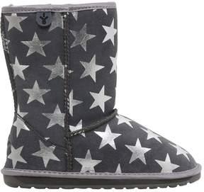 Emu Stars Print Suede & Merino Wool Boots