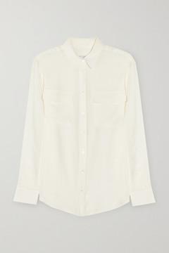 Equipment Signature Washed-silk Shirt - Off-white