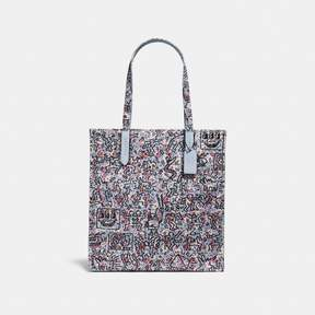 COACH Coach X Keith Haring Tote - ICE BLUE/BLACK COPPER - STYLE