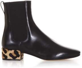 Francesco Russo Black Leathr Ankle Boots