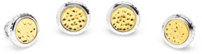 Ravi Ratan Sterling Round Two Tone Hammered Opus Studs.