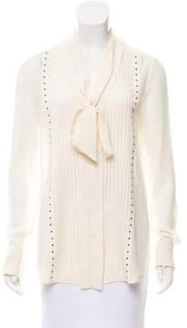 Belstaff Embellished Silk Top