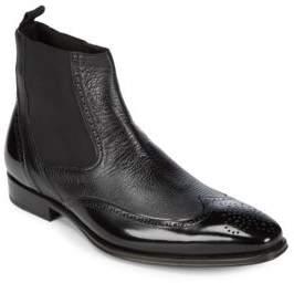 Mezlan Chelsea Leather Wingtip Boots