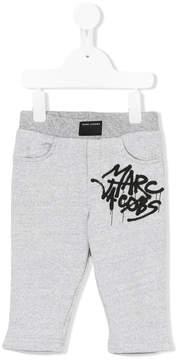 Little Marc Jacobs graffiti logo print track pants