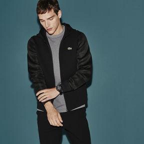 Lacoste Men's Sport Tennis Fleece And Mesh Zip Sweatshirt