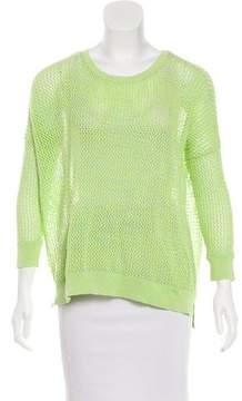 Autumn Cashmere Open Knit Crew Neck Sweater