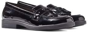 Geox Jr Agata Black Patent Tassle Loafers