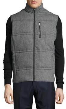 Black & Brown Black Brown Flannel Puffer Vest