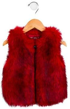 Little Marc Jacobs Girls' Faux Fur Vest