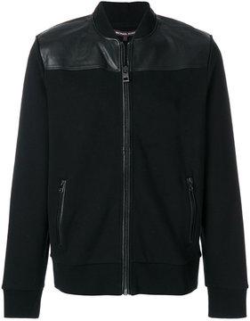 Michael Kors panelled bomber jacket