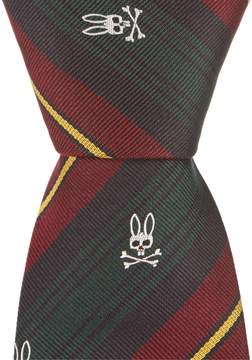 Psycho Bunny Fancy Stripe Traditional 3.25#double; Silk Tie
