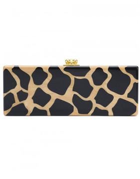 Edie Parker Jean giraffe pattern rectangular clutch