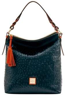 Dooney & Bourke Ostrich Small Sloan Bag. - BLACK - STYLE