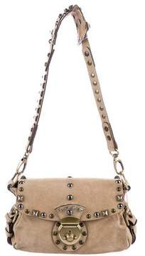 Barbara Bui Studded Suede Shoulder Bag
