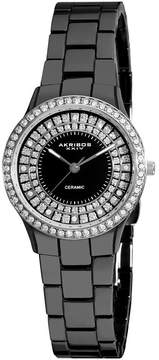 Akribos XXIV Akribos Black Ceramic Ladies Watch