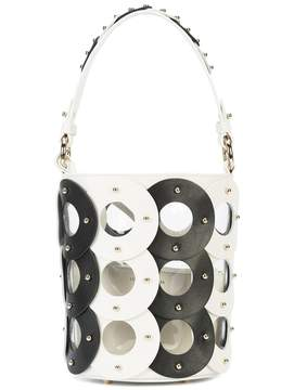 Sara Battaglia Zoe Circle Bucket Bag - Monochrome