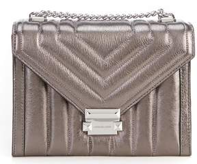 MICHAEL Michael Kors Whitney Metallic Quilted Cross-Body Bag