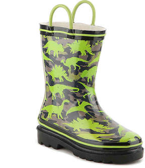 Western Chief Boys Jurassic Dinos Toddler & Youth Rain Boot