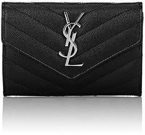 Saint Laurent Women's Monogram Wallet - BLACK - STYLE