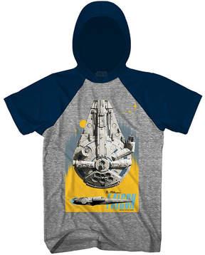 Star Wars Novelty T-Shirts Solo Falcon Blast Graphic Tee