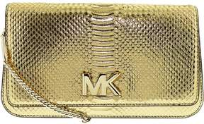 Michael Kors Women's Large Mott Ayers Snake Snakeskin Clutch - Pale Gold - PALE GOLD - STYLE