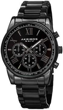 Akribos XXIV Mens Black Strap Watch-A-865bk