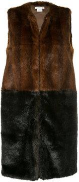 CITYSHOP two-tone fur vest