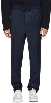 Ami Alexandre Mattiussi Navy Elastic Waist Trousers