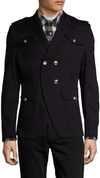 Pierre Balmain Men's Peak Lapel Military Sportcoat