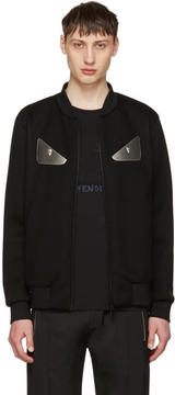 Fendi Black Bag Bugs Bomber Jacket