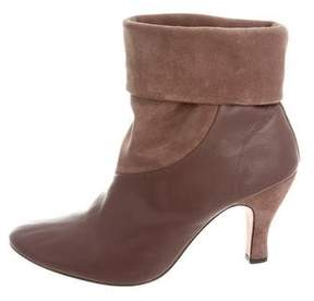 Repetto Leather & Suede Round-Toe Ankle Boots