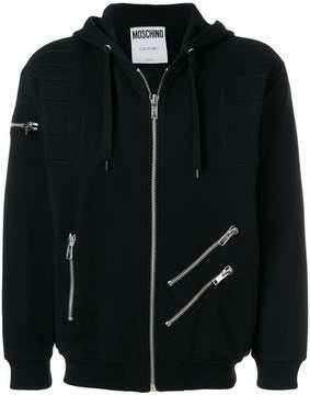 Moschino multi-zip hoodie
