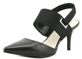 Alfani Jolum Women Pointed Toe Leather Black Slingback Heel.