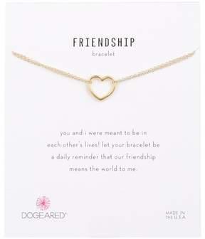 Dogeared 14K Gold Vermeil Friendship Open Heart Bracelet