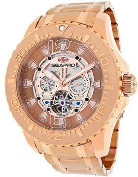 Seapro SP3311 Men's Tidal PX1 Rose Gold Stainless Steel Watch