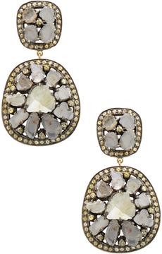 Amrapali Women's 14K Yellow Gold & 5.55 Total Ct. Diamond Slice Drop Earrings