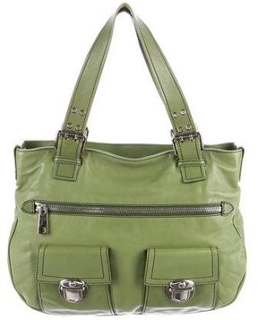 Marc Jacobs Leather Sofia Tote - GREEN - STYLE